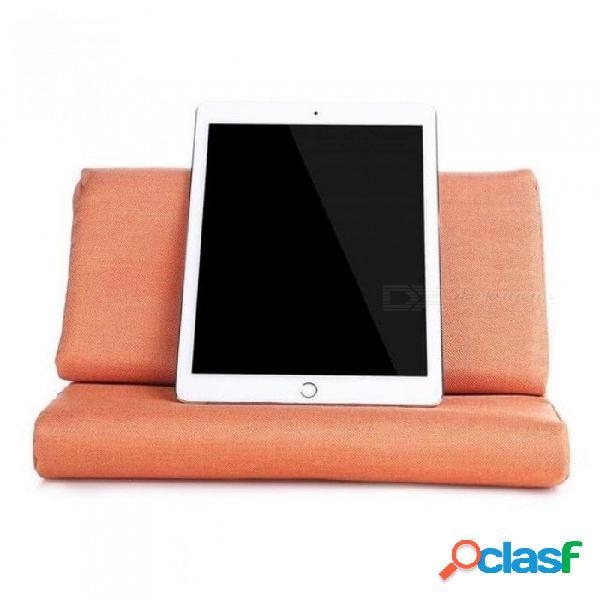 Soporte de almohada para tableta ipad air / ipad 4 / ipad 3 / ipad 2 / ipad 1 / nexus / galaxy orange con kakki opcional multicolor