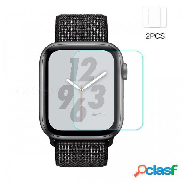 2 unids hat-prince ultra claro cristal templado película protectora de pantalla para apple watch series 4 44mm