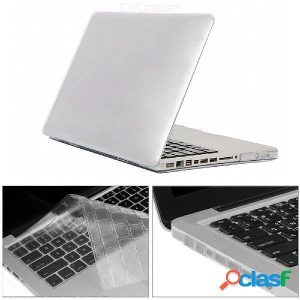 A1278 3 en 1 funda de teclado de caja de cristal + tapones antipolvo para macbook pro de 13.3 pulgadas con cd-rom