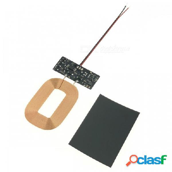 Cargador inalámbrico qi universal módulo receptor de carga inalámbrica que recibe la placa pcba para bricolaje