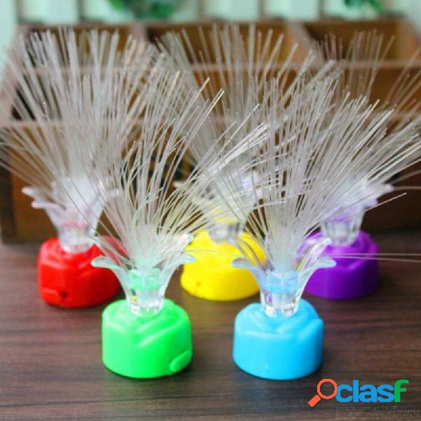 Color de la lámpara de las luces de la fibra óptica del led que cambia de color romántico para la decoración de la boda del día de fiesta de la sala de estar