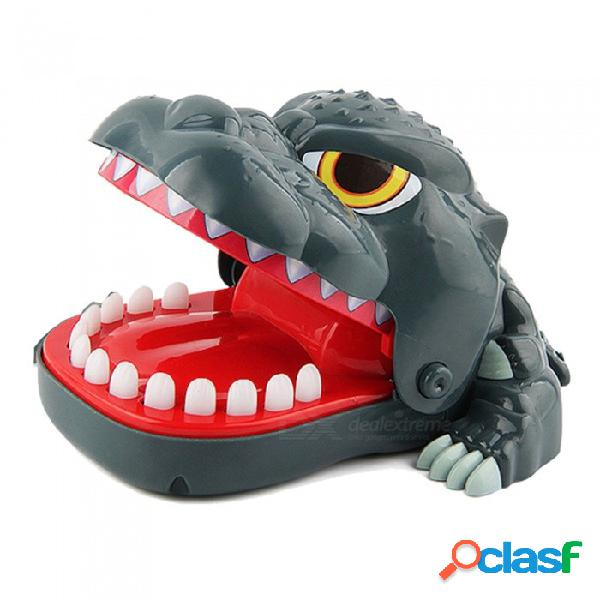 Dinosaurio de escritorio creativo mordiendo el juego de mano juguete complicado para niños - verde oscuro + multicolor