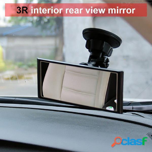 Interior del coche espejo retrovisor con ventosa gran angular retrovisor auto curva convexa rotación de 360 grados