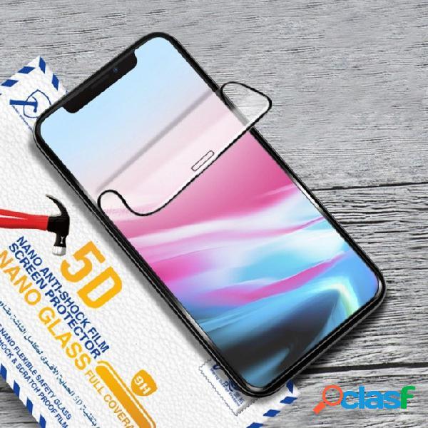 Película de hidrogel frontal de teléfono móvil 5d templado protector de pantalla de vidrio resistente al rayado película para iphone xr / xs / xs max negro / iphone xs