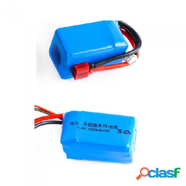 7.4v 1800mah 20c lipo polímero 2s lipo batería w / t enchufe para wltoys a959-b a969-b a979-b k929-b rc coche del barco quadcopter fpv