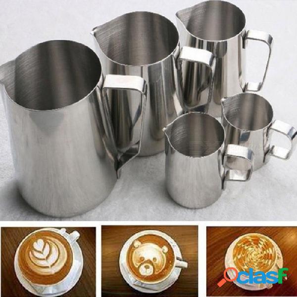 Acero inoxidable leche espumar jarra taza de café espresso jarra barista artesanía café capuchino tazas latte olla herramienta de cocina 150 ml