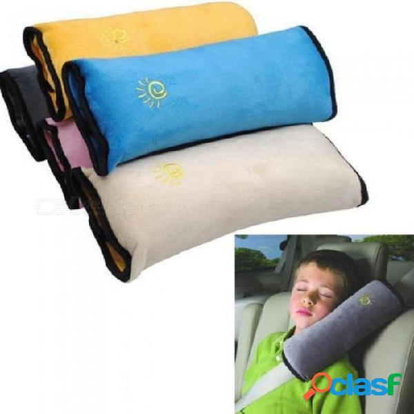 Bebé niños correa de seguridad cinturones de seguridad del coche almohada protección para los hombros accesorios de estilo de coche gris azul rosa 3 color gris