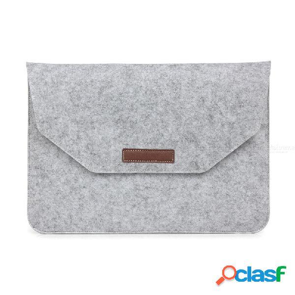 Bolso para computadora portátil con fieltro de lana para macbook air pro retina 11 12 13 15 pulgadas barra de tacto bolsa para cable de carga del ratón