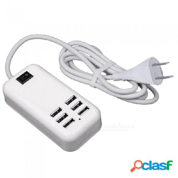 Cargador de 6 puertos usb usb cargador de teléfono móvil cargador usb multipuerto inteligente carga rápida - enchufe de la ue / enchufe de ee.uu.
