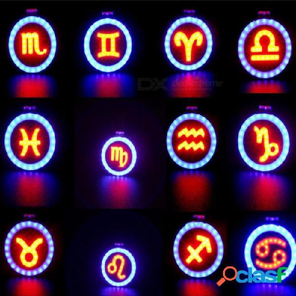 Lámpara De Advertencia De Bicicleta De Carga USB COB, Luz De Conducción Nocturna, Luz Trasera De Bicicleta De Ciclismo, Luz Trasera LED - Capricornio Rojo / Blanco