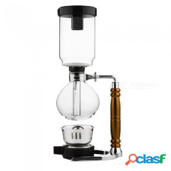 Cafetera tipo sifón de estilo japonés tetera con sifón tetera con vacío cafetera de vidrio tipo de filtro de café 3 tazas 5 tazas 5 tazas