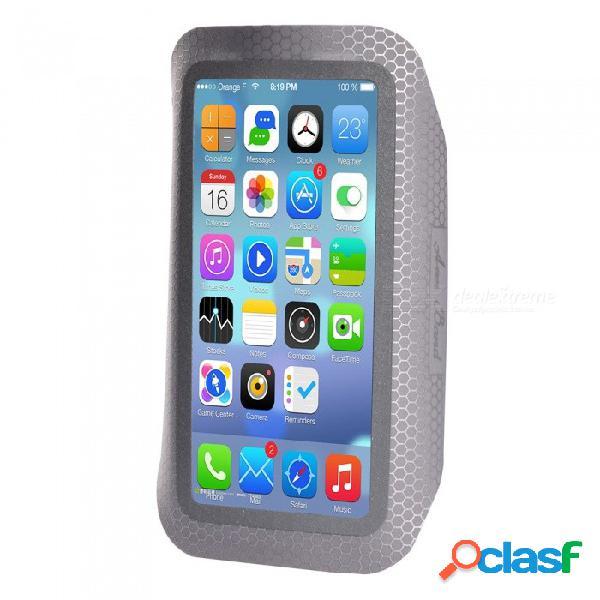 Maletín para teléfono resistente al agua para deportes al aire libre para iphone 7 plus / 6 plus / 6s plus / 8 plus / iphone x - gris