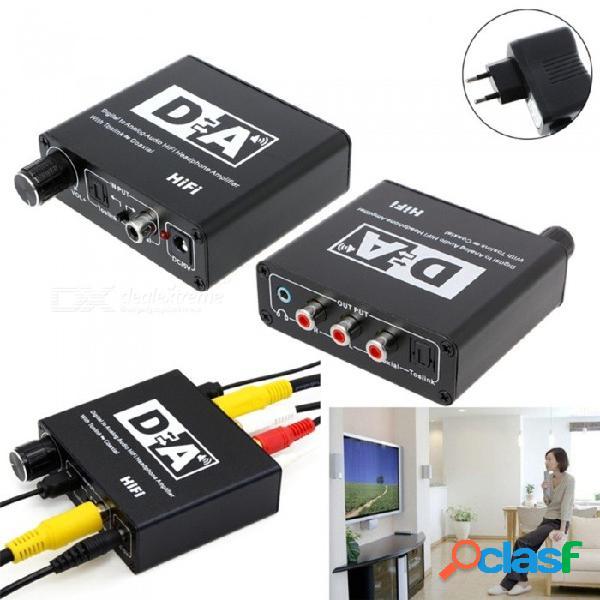 Rca r de audio digital a analógico / amplificador de auriculares de alta fidelidad, convertidor de fibra óptica coaxial toslik