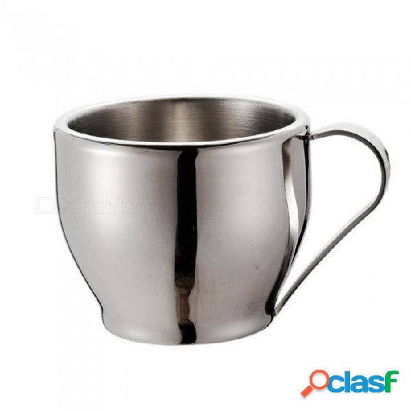 250 ml de pared doble, material de acero inoxidable, tazas de café y tazas de café expreso, taza de té y platillo 201-300ml