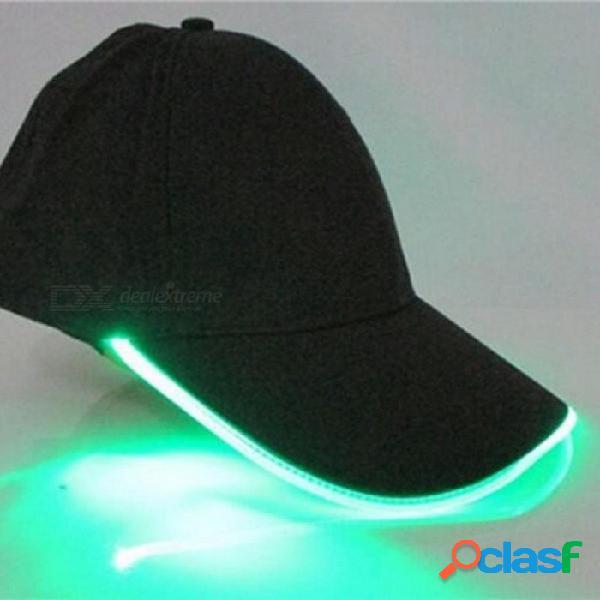 Luces led de pesca gorro de camuflaje gorra para pesca nocturna caza con baterías aparejos de pesca gorra de pesca l / azul