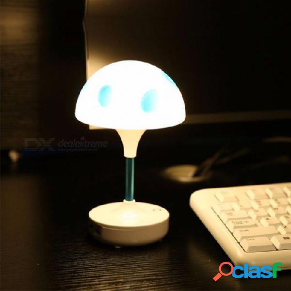 Mini led lámpara de escritorio cama lectura usb luz 4 led 3 modos mesa luz de noche blanco / amarillo / 0-5w