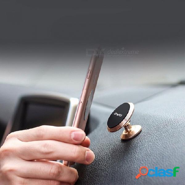 Soporte de coche de aleación de aluminio soporte giratorio magnético de 360 grados soporte de ventilación de aire del coche soporte gps para teléfono móvil
