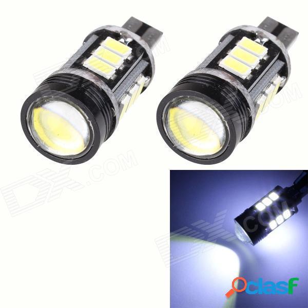 T10 7.5w 420lm 12-smd 5630 led + 1.5w led lámpara de estacionamiento blanca libre de errores / luz de señal de giro del coche