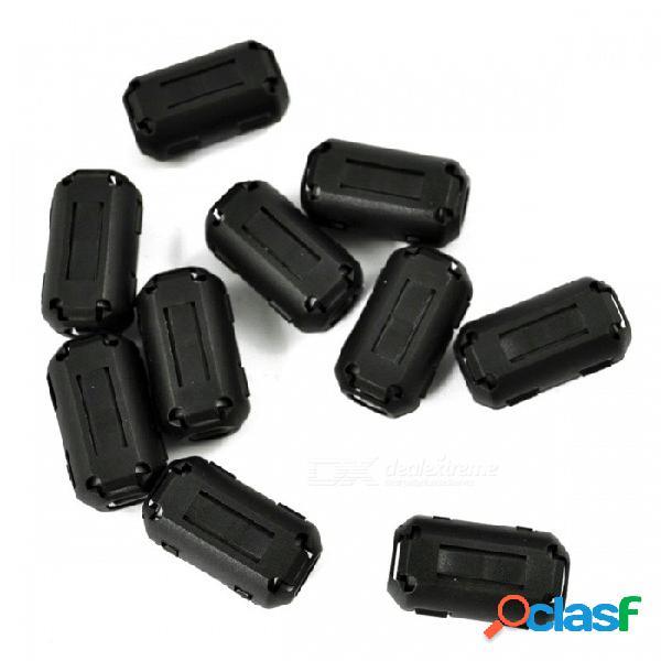 Abrazadera para clip de ferrita con clip uf90b abrazadera para cable rfi emi con supresor de ruido para cable de 9 mm de diámetro - negro (10 pcs)