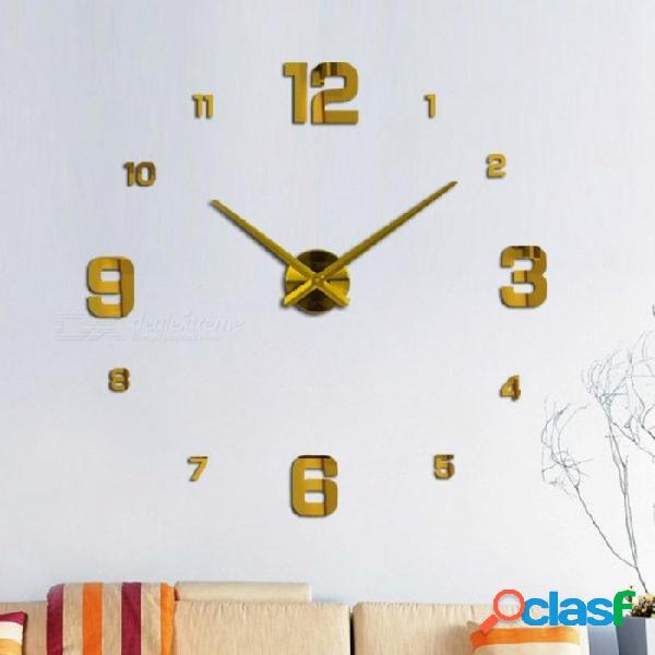 Etiqueta engomada del reloj del reloj de pared, aguja del patio del balcón del cuarzo de la decoración del hogar del espejo de acrílico de diy 3d