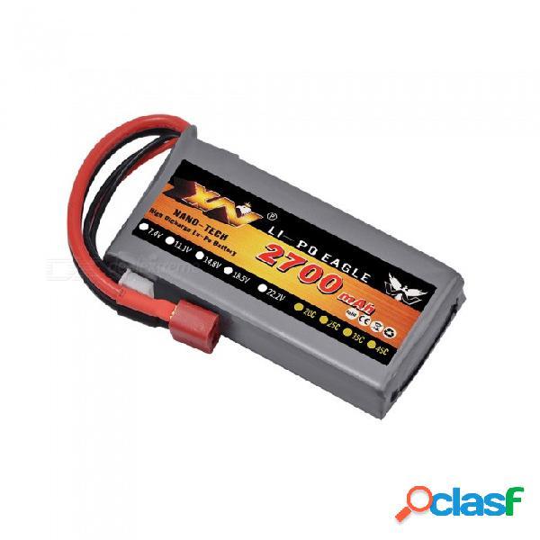 Rc lipo batería 2 s 7.4 v 2700 mah 20 c max 40 c para wltoys 12428 12423 1:12 piezas de repuesto rc coche
