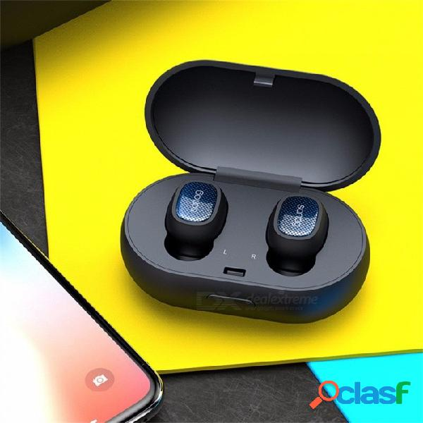 T3 mini auricular inalámbrico para auriculares inalámbricos, auriculares estéreo de alta fidelidad con caja de carga para deportes en funcionamiento