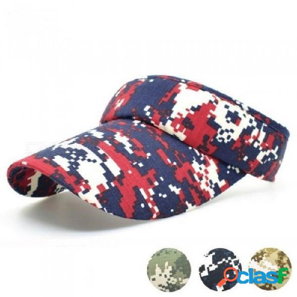 Verano camuflaje colorido pesca caza gorras visera sombrero adulto hombre mujer deportes al aire libre ajustables visera sombreros rojo