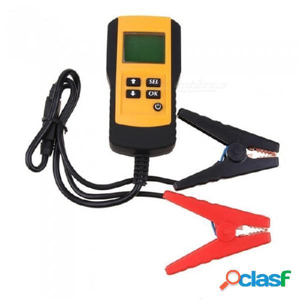 12 v vehículo digital vehículo auto probador de batería automotriz acumulador de coche condición analizador voltaje ohm cca detector de prueba amarillo