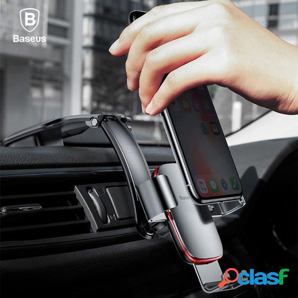 Baseus soporte de coche de metal soporte de teléfono móvil soporte de gravedad aire montaje gps soporte para teléfono de coche soporte para iphone android