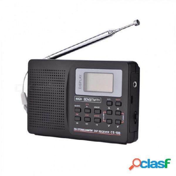 Mini radio portátil soporte fm fm am sw lw tv sonido radio frecuencia completa receptor despertador radio fm mini radio tipo 1