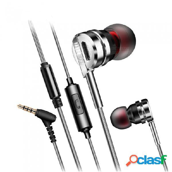 Qkz dm7 aleación de zinc de alta fidelidad estéreo para auriculares con micrófono, micrófono con cancelación de ruido de bajos en la oreja para auriculares para teléfonos inteligentes