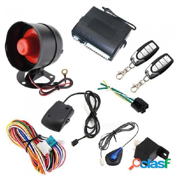 Sistema de vehículo de alarma de automóvil unidireccional ojade, sistema de seguridad de protección, sirena de entrada sin llave + 2 controles remotos