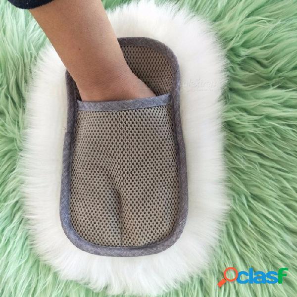 Vehemo súper pelo largo transpirabilidad piel de oveja lavado de autos herramientas de limpieza pulir guantes lujo de lana de cordero guante un tamaño / blanco