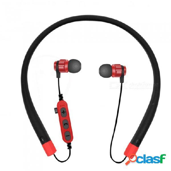 Auriculares con banda para el cuello inalámbricos auriculares bluetooth auriculares estéreo sin manos deportes auriculares con cancelación de ruido en el oído