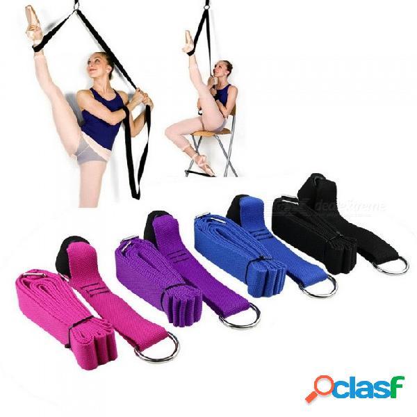 Bandas de resistencia gimnasia adulta latinos pilates yoga cinturón estiramiento banda de resistencia aptitud piernas elásticas cinta de apertura suave