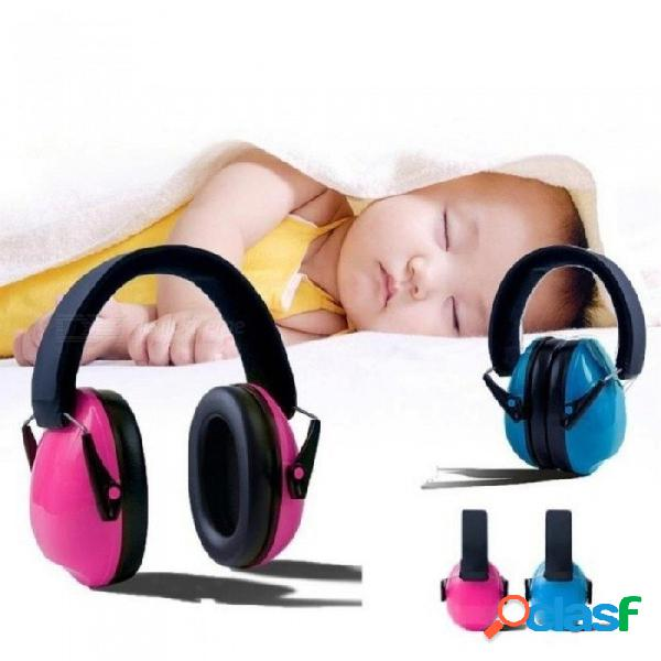 Bebé orejeras de ruido para niños orejas a prueba de bebé bebé niños orejeras antirruido auriculares protección auditiva defensores del oído rosa