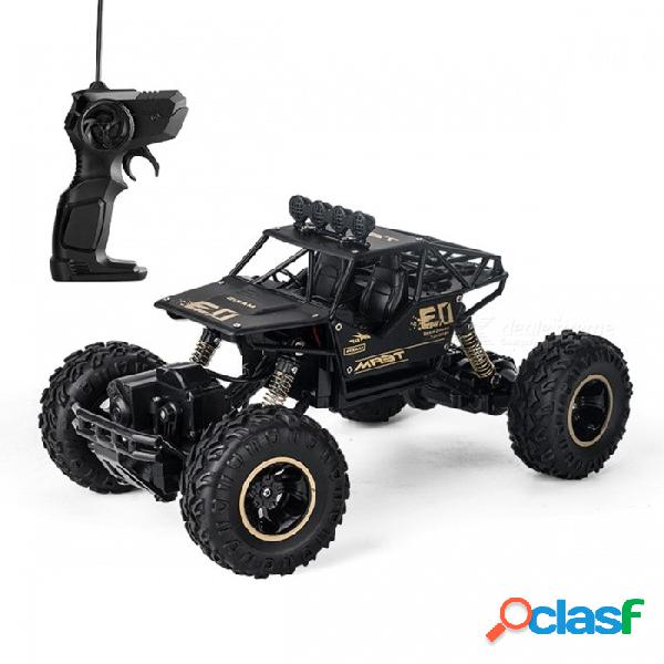 De aleación de cuatro ruedas motrices rc coche escalada bici de la suciedad buggy control remoto de radio de alta velocidad modelo de coche de carreras de juguetes para niños