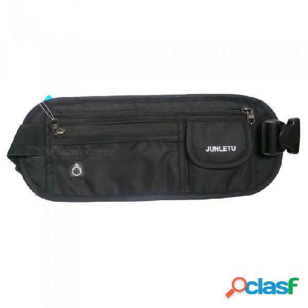 Deportes al aire libre con bolsa de cintura portátil de nylon para teléfono celular, billetera, tarjetas y otros artículos pequeños