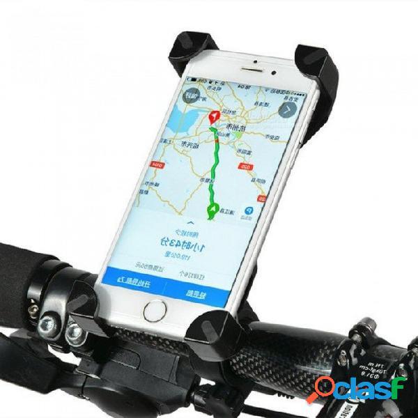 Soporte universal para teléfono para bicicleta soporte de manillar de bicicleta de pvc para iphone samsung htc sony accesorios de ciclismo para teléfonos móviles negro 1