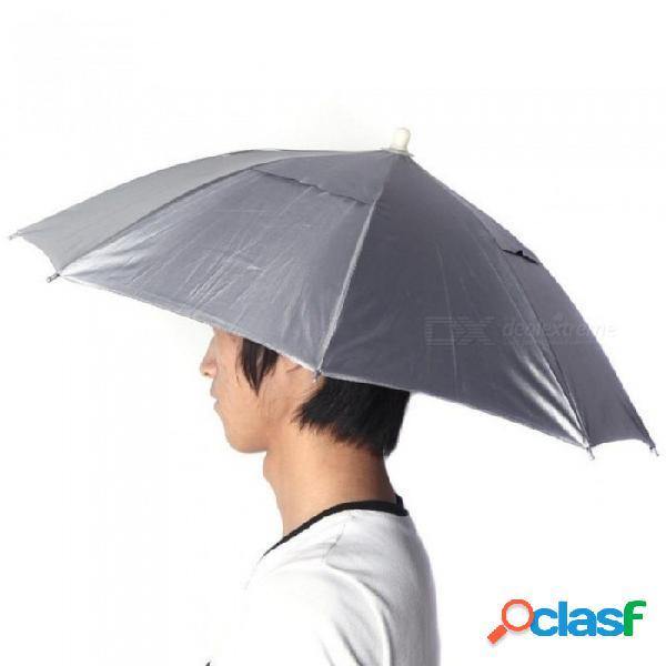 Azul sombrerería plegable sombrero para el sol pesca senderismo playa acampar sombrero gorros para la cabeza sombrero de sombrilla de deporte al aire libre sombrero m / azul