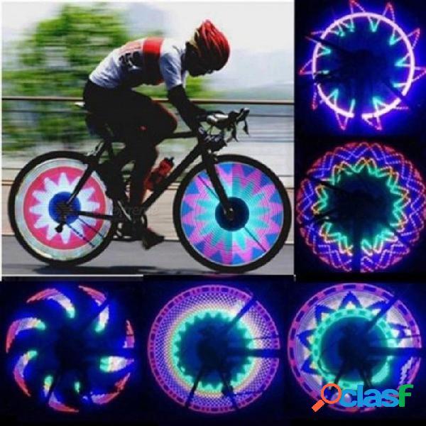 Cool 2 lado 32 led 32 modo de noche lámpara de señal a prueba de agua lámpara borde reflexivo arco iris bicicletas bicis bicicleta fija habló advertir luz 32 led