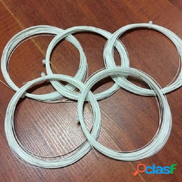Cuerdas de nylon de la raqueta del bádminton colores de la mezcla de ultimax para 5 pedazos / porción blanco negro azul rojo verde amarillo 5pcs / lot