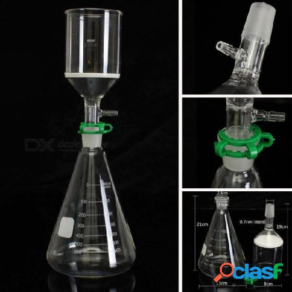 Kit de filtro de succión de vidrio embudo buchner 250 ml matraz erlenmeyer de 1 litro vaso de borosilicato de 1000 ml de capacidad 1000 ml