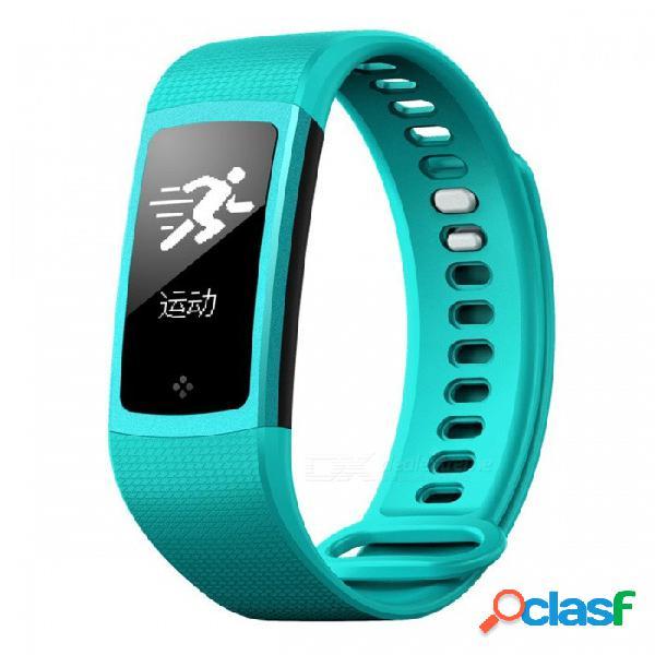 S8 bluetooth v4.0 sport pulsera inteligente con contador de pasos, frecuencia cardíaca, monitor de presión arterial - azul-verde