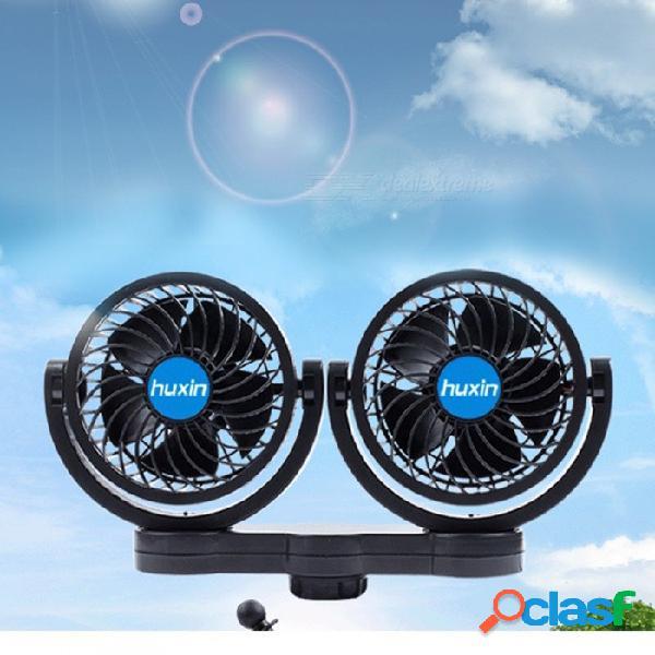 12v 4 pulgadas de doble cabeza sin escalonamiento ventilador del coche coche del vehículo portátil asiento trasero ventilador de aire ventilador enfriador ajustable ventilador de refrigeració
