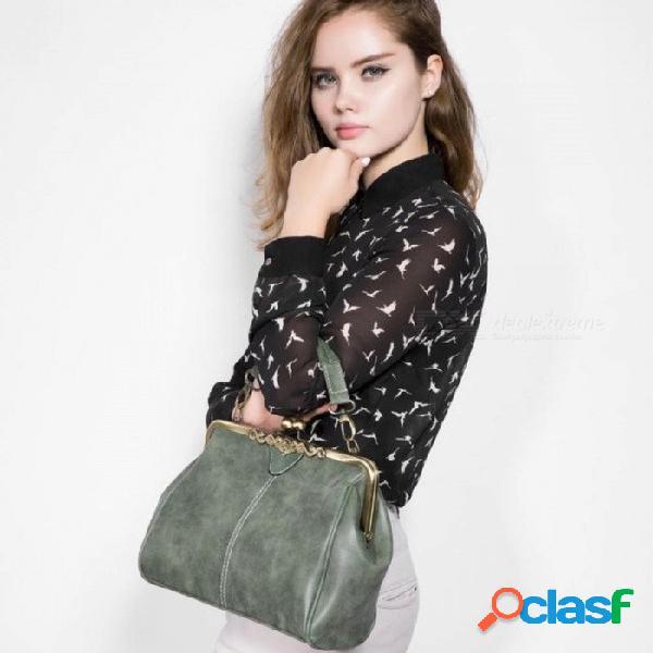 Bolsas de mensajero de las mujeres retro pequeño bolso de hombro de alta calidad de cuero de la pu bolso de mano pequeños bolsos de embrague
