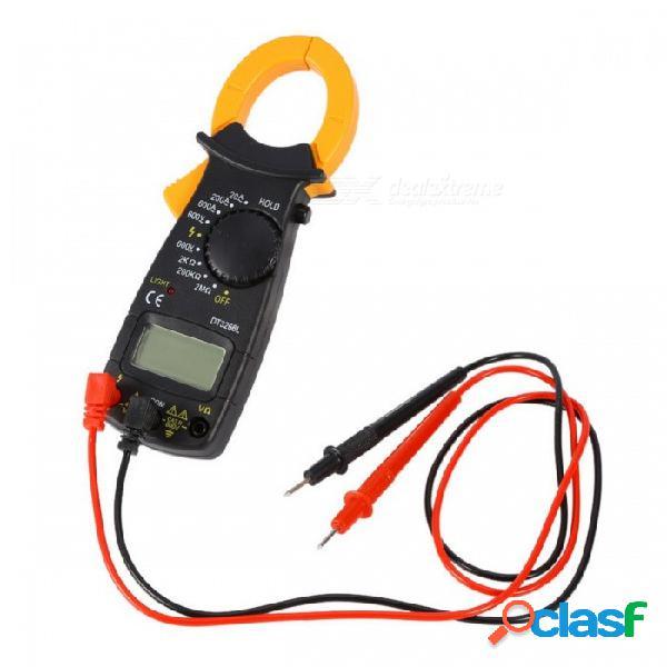 Dt3266l pinza digital multímetro pinzas de pinza de corriente voltímetro amperímetro, 600a ac dc ohm probador de voltaje de corriente