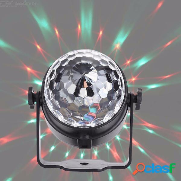 Luz de escenario control remoto 3w pequeña bola mágica de cristal led luz estroboscópica láser dj lámpara de proyección