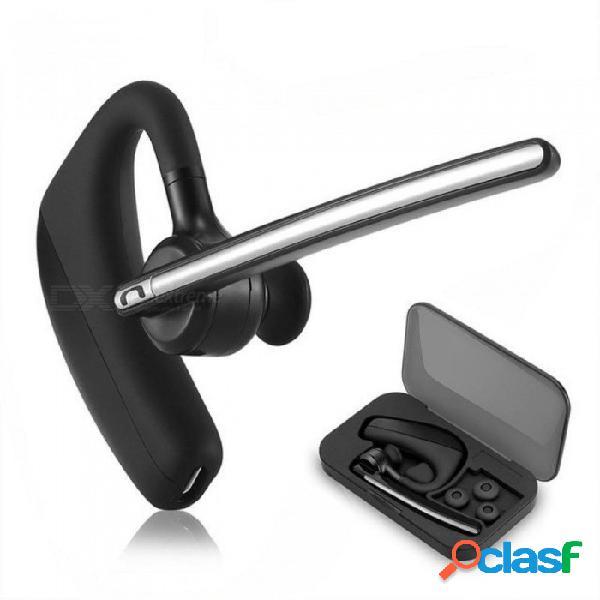Auriculares bluetooth auriculares inalámbricos manos libres de cancelación de ruido driver de coche auriculares bluetooth con micrófono para teléfonos móviles negro