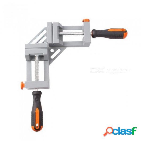 Doble manija 90 grados ángulo clip carpintería plantillas de tipo rápido de liberación rápida esquina abrazadera clip de marco a